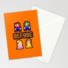 Super Mario Bros Before Hoes Stationery Cards