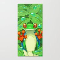 Frankie The Frog Canvas Print