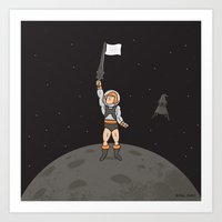 He-Man On The Moon Art Print