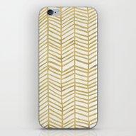 Gold Herringbone iPhone & iPod Skin