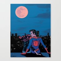 Pete and MJ Canvas Print