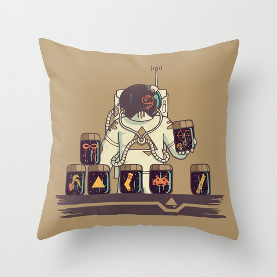 Kleptonaut Throw Pillow