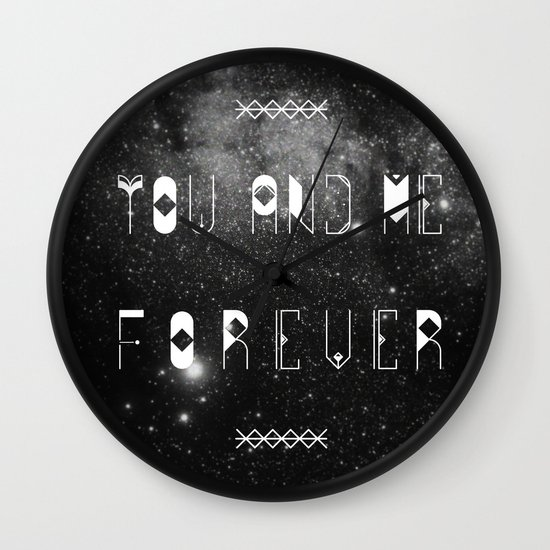 You and Me Forever Wall Clock
