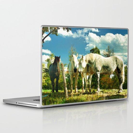 Amish work horses Laptop & iPad Skin