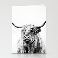 portrait Stationery Cards featuring portrait of a highland cow by Dorit Fuhg