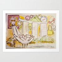 Andy Shaped (war)Hols Art Print