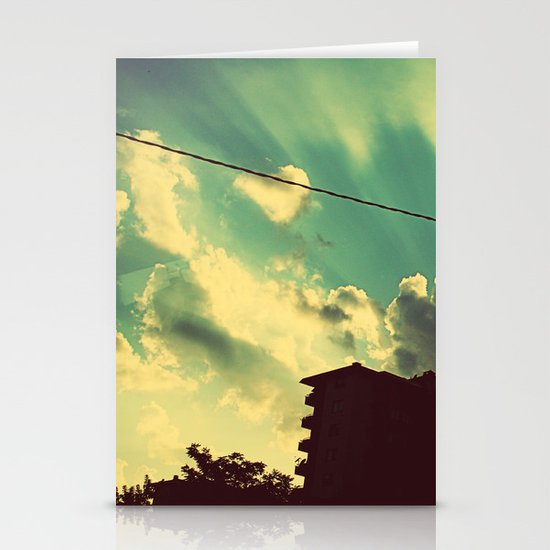 sun goes down Stationery Card