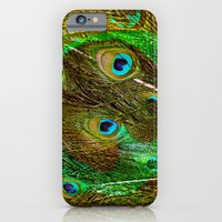 iPhone & iPod Case featuring The Peacock Dream In Gold by Andrew Sliwinski