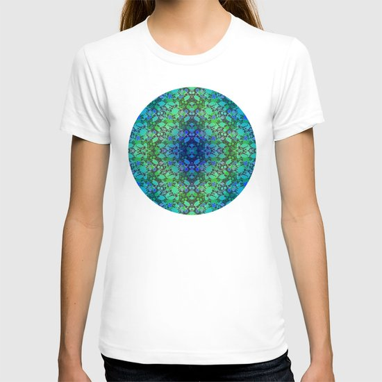Lila's Flowers Repeat Blue T-shirt