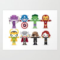 THE AVENGER'S 'ASSEMBLE'… Art Print