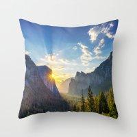 Yosemite Sunburst Throw Pillow