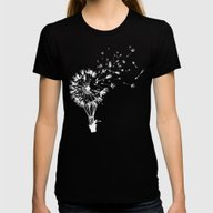 Going Where The Wind Blo… Womens Fitted Tee Black LARGE
