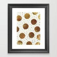 Mixed Dots Framed Art Print