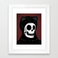 I came here to take you to the purrrrrgatory Framed Art Print