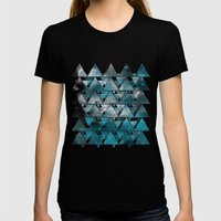 TriangleTracts Womens Fitted Tee Black SMALL