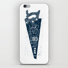 4/52: Colossians 3:23  iPhone & iPod Skin