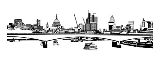 London Black and White Art Print