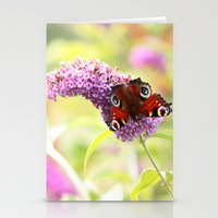 pastel peacock (butterfly) Stationery Cards