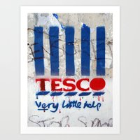 Art On The Run: Anti-Tesco Campaign, Bristol, UK Art Print