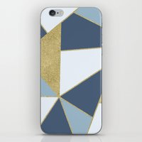 Abstract Blue And Gold iPhone & iPod Skin