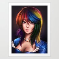 Rainbowdash Art Print