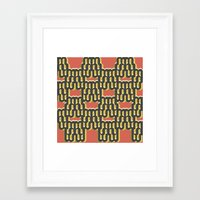 when I think of reupholstering, I think of happiness  #1 Framed Art Print