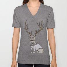 Deer Frenchie  Unisex V-Neck