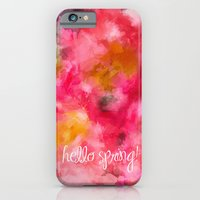 iPhone & iPod Case featuring Hello Spring  by Dnzsea