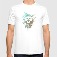 Bear | Zoo serie Mens Fitted Tee White SMALL
