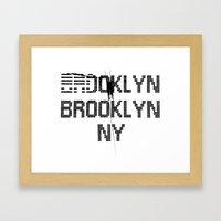 BROOKLYN BROOKLYN Framed Art Print