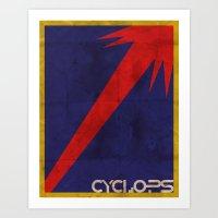 Minimalist Cyclops Art Print