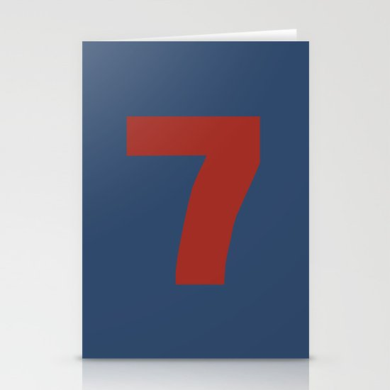 Number 7 Stationery Card
