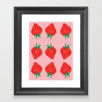 Strawberry Motif, 2013. Framed Art Print