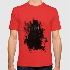 Viking Mens Fitted Tee Red SMALL