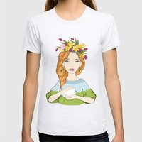 Spring girl Womens Fitted Tee Ash Grey SMALL