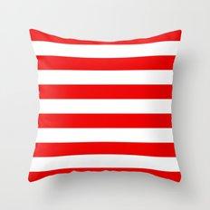 Stripe Red White Throw Pillow