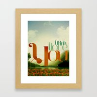 I Think I Love You Framed Art Print