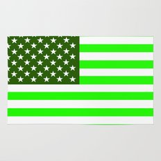 united states america green flag ecology Rug