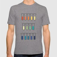 pH Indicators. Mens Fitted Tee Tri-Grey SMALL