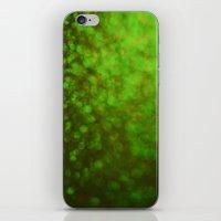 Big Green Bokeh iPhone & iPod Skin