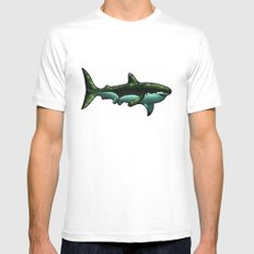Great White White Mens Fitted Tee SMALL