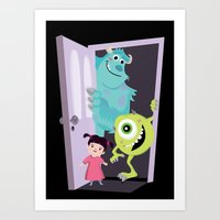 Monsters Inc. Art Print