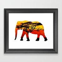 Elephant View Framed Art Print