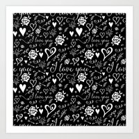 Art Print featuring Black love by Dnzsea