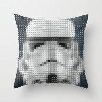 Stormtrooper Pantone Pop Throw Pillow