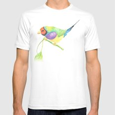 lady gouldian finch SMALL White Mens Fitted Tee