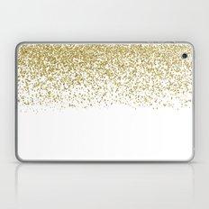 Sparkling Golden Glitter… Laptop & iPad Skin