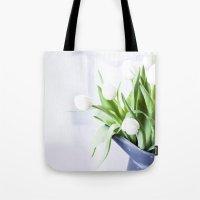 In The Window - Tulip Still Life Tote Bag