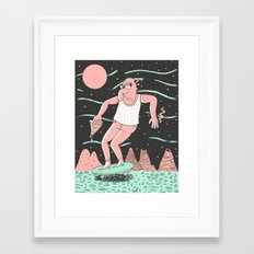 Spaceboard Framed Art Print