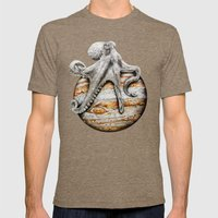 Celestial Cephalopod Mens Fitted Tee Tri-Coffee SMALL